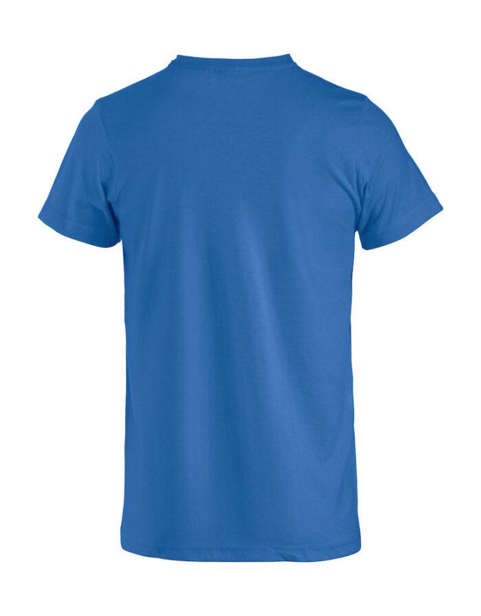 Basic -t-shirt blå bak