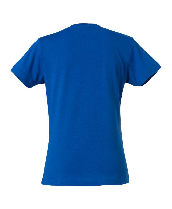 Basic -t-shirt jente blå bak