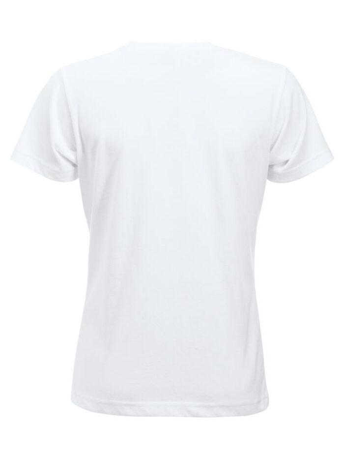 Basic -t-shirt jente hvit bak