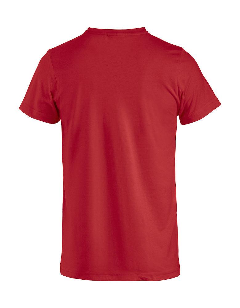 Basic -t-shirt rød bak