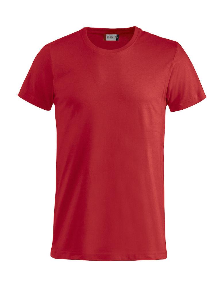 Basic -t-shirt rød