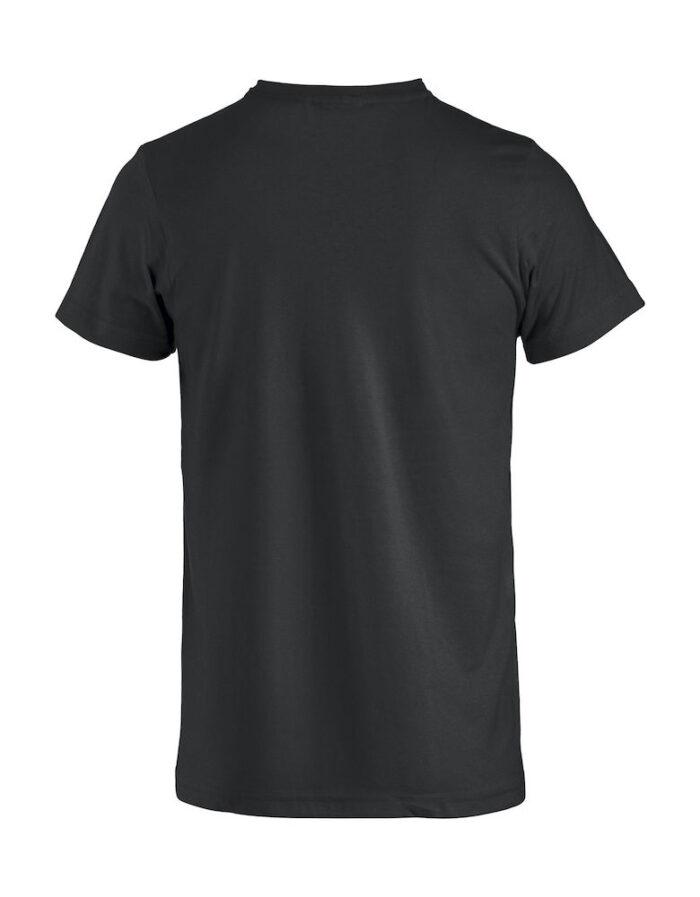 Basic -t-shirt sort bak
