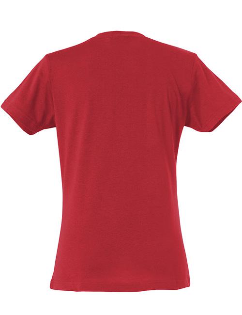 Basic -t-shirt jente rød bak