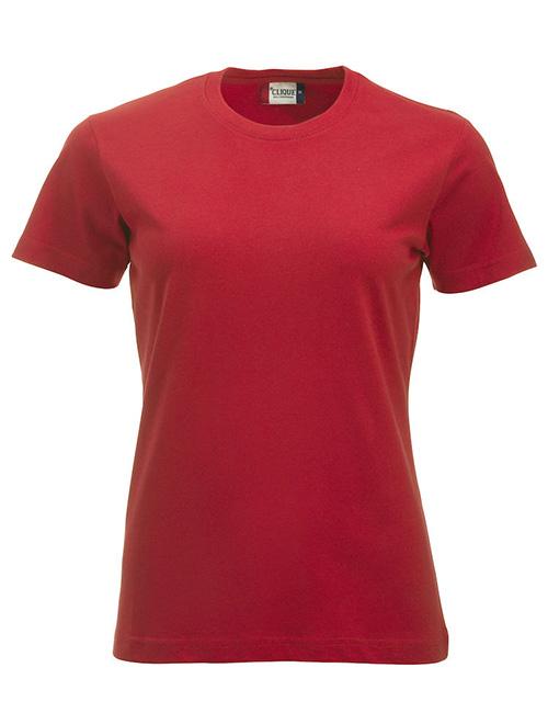 Basic -t-shirt jente rød
