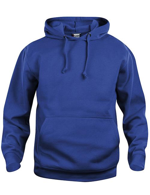 Basic Hoodie blå framme