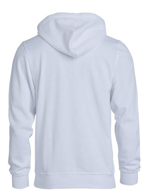 Basic Hoodie hvit bak