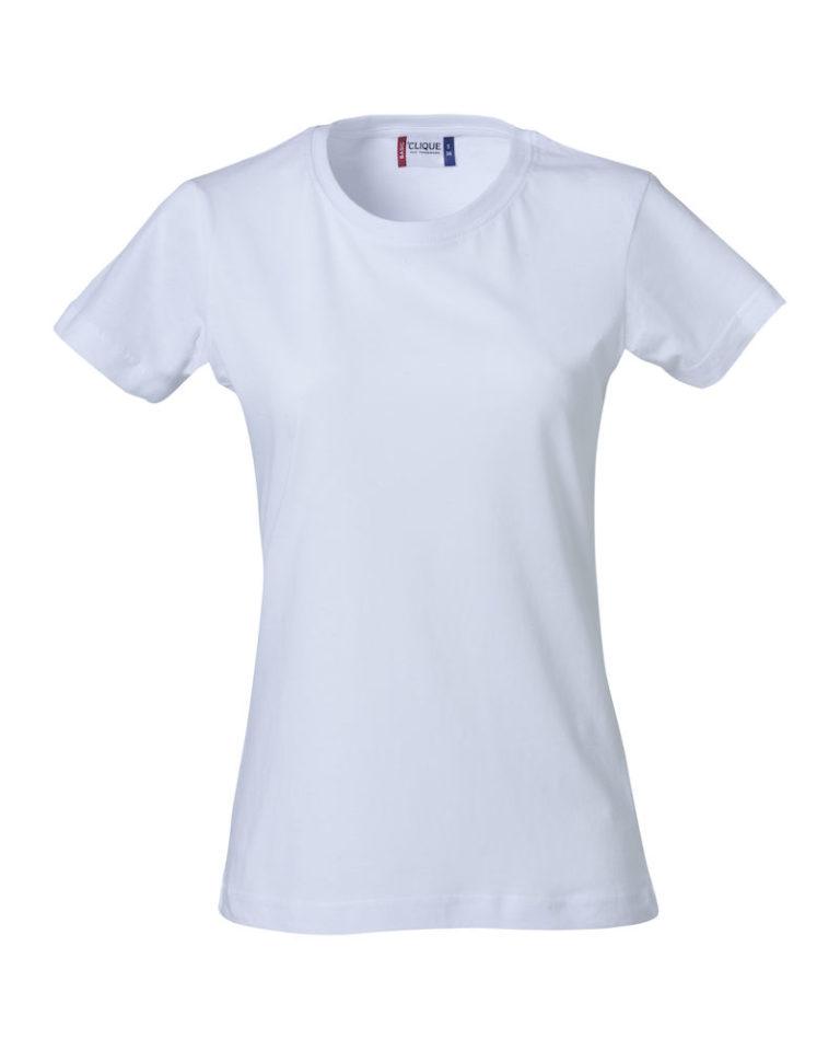 Basic t-shirt jente hvit