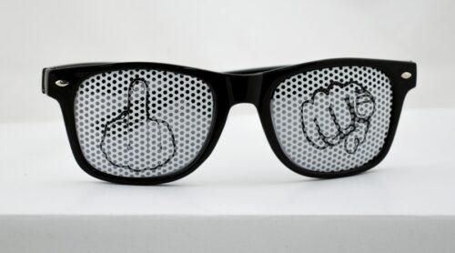 Solbriller Finger