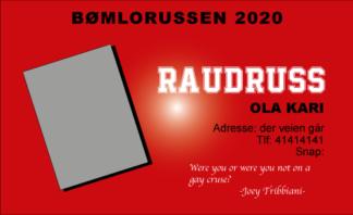 Russekort Raudruss