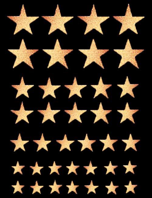 Stjerne-glitter-gull