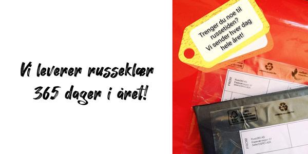 Vi leverere russeklær 365 dager i året - (banner)
