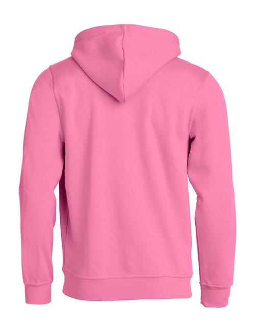 Basic hoodie rosa bak