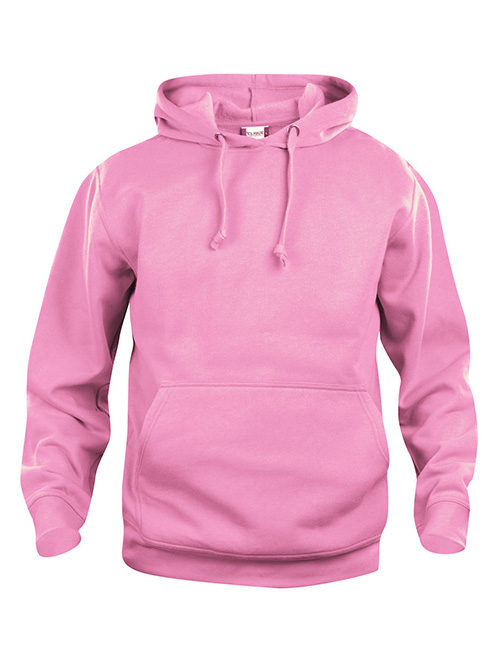 Basic Hoodie rosa framme