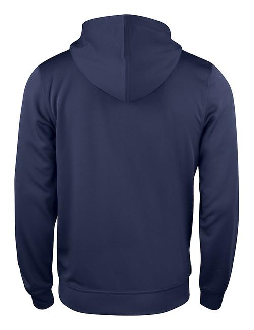 Basic Active hood full zip bak marineblå