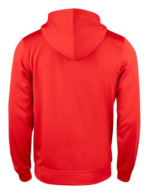 Basic Active hood full zip bak rød