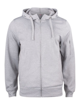 Basic Active hood full zip framme grå