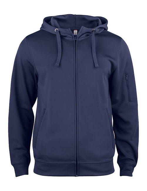 Basic Active hood full zip framme marineblå