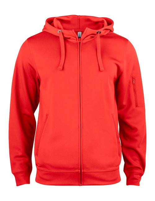 Basic Active hood full zip framme rød