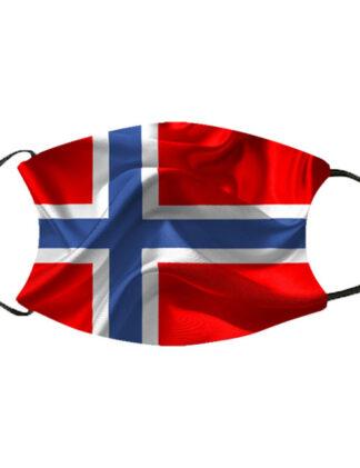Munnbind norsk flagg