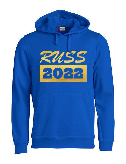 Basic hoodie russ 2022 blå