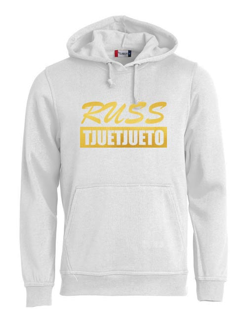 Basic hoodie russ tjuetjueen hvit