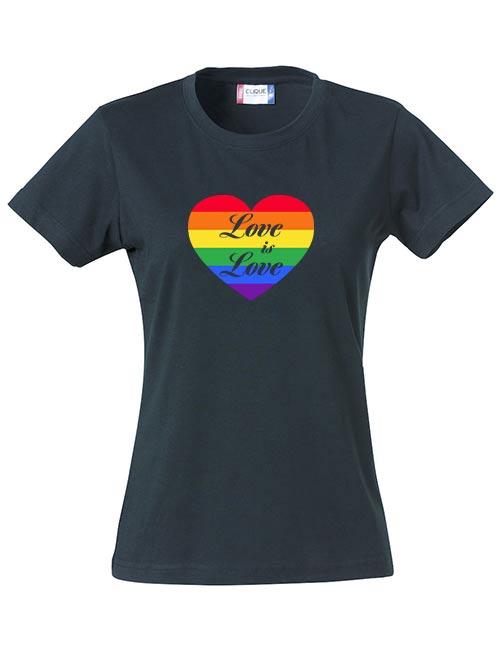 T-skjorte Love is love sort